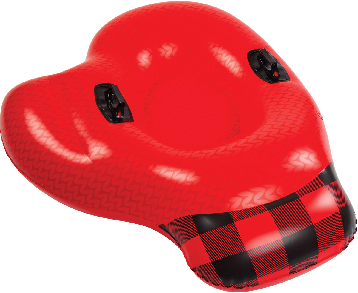 Тюбинг надувной BigMouth Mitten Red, цвет: красный, диаметр 1 мBMSTMTВиниловый тюбинг в форме варежки для зимнего катания с горки. Тюбинг имеет яркую расцветку и оригинальный дизайн. Изделие выполнено из высокопрочного винила soft touch, что делает его не только долговечным, но и комфортным в использовании. Усиленная проклейка швов и крепление деталей не позволит тюбингу порваться даже при использовании на сильно обледеневших поверхностях. Для удобства катания модель дополнена специальными ручками. Яркий и стильный тюбинг выделит своего владельца среди всех отдыхающих на склоне. Нестандартный дизайн добавит удовольствия катанию и не позволит потерять свой транспорт в суматохе после спуска. Тюбинг станет идеальным подарком как для ребенка, так и для взрослого. С таким ярким спутником зимние дни пролетят весело и беззаботно.Зимние игры на свежем воздухе. Статья OZON Гид