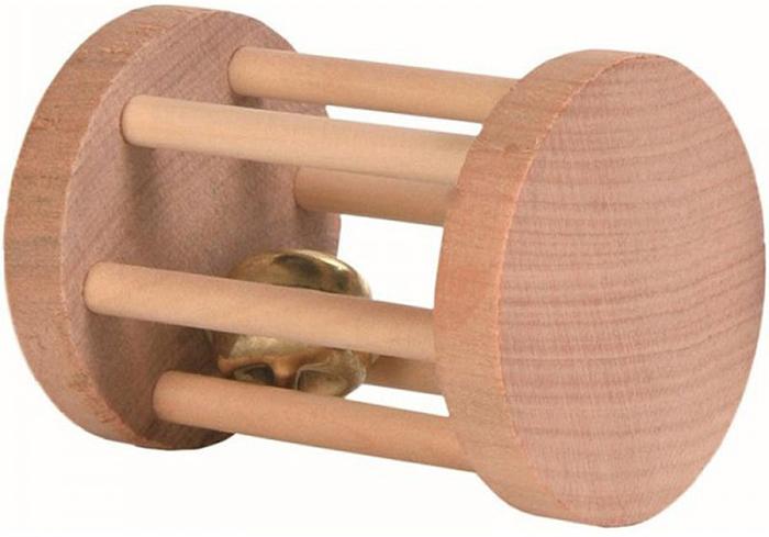Игрушка для грызунов Trixie Барабан с бубенчиком, 5 х 5 х 7 см панцирь каракатицы trixie с держателем для птиц