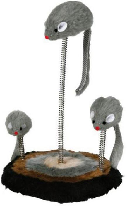 Игрушка для кошек Trixie Мышь, на подставке