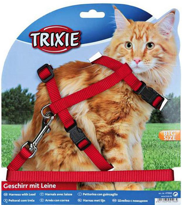Шлейка с поводком Trixie, для крупных кошек, ширина 13 мм, обхват груди 34-57 см колпак diffusor k140 1