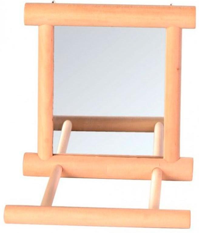Игрушка для попугая Trixie Зеркало, с жердочкой, 9 х 9 смAT2516_короваИгрушка для попугая Trixie Зеркало выполнена из дерева и оснащена жердочкой. Такой аксессуар обязательно порадует вашу домашнюю птицу.