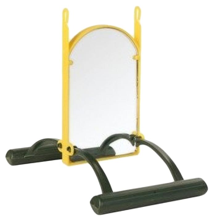 Зеркало для попугая Trixie, цвет: черный, желтый, высота 13 см trixie кормушка trixie для птиц 17 см 110 мл