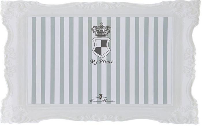 Коврик под миску Trixie Мой принц, цвет: серый, 44 х 28 см коврик под миску v i pet цвет бежевый 52 х 38 см