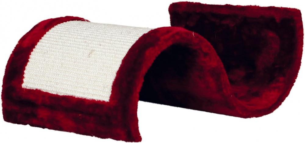 Когтеточка Trixie Волна, цвет: бордовый, 50 x 29 x 18 см бубенчик для кошки trixie цвет золотистый диаметр 1 5 см