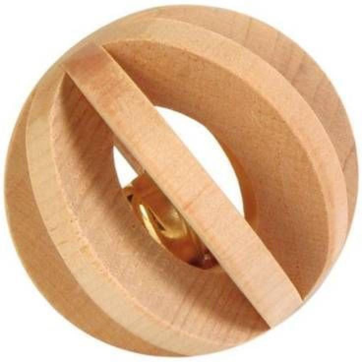 Игрушка для грызунов Trixie Шар с колокольчиком, диаметр 6 см6187- дерево, - с колокольчиком