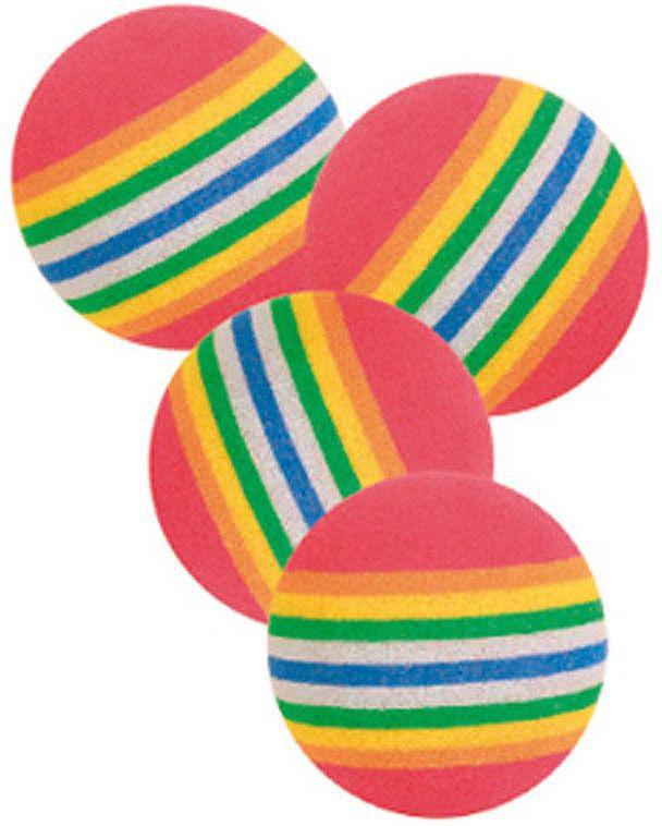 Фото - Набор игрушек для кошек Trixie Радужные мячи, диаметр 3,5 см, 4 шт trixie стойка с мисками trixie для собак 2х1 8 л