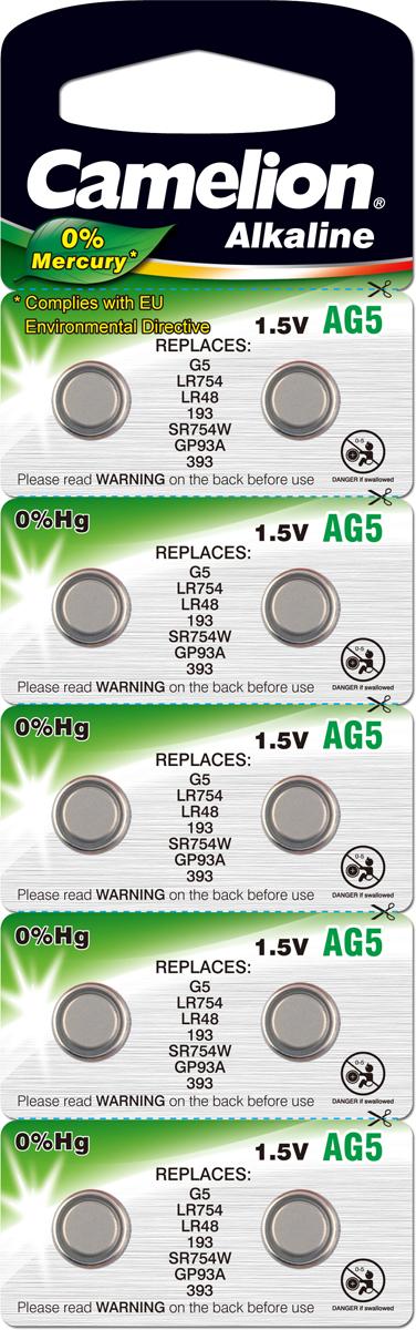 Батарейка Camelion, тип AG5, 1,5В, 10 шт. 1281312813Алкалиновые дисковые батарейки с щелочным электролитом Camelion AG5, 1,5В обеспечивают надежное и продолжительное электропитание. Батарейки применяются для питания игрушек, лазерных указок, часов.
