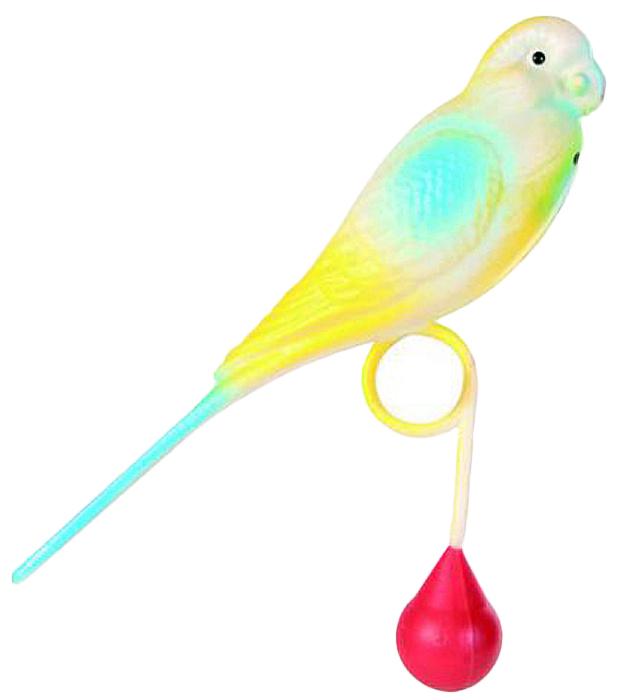 Игрушка для птиц Trixie Попугай, высота 15 см, цвет: голубой trixie шлейка trixie для собак размер s m 35 60 см 15 мм синяя