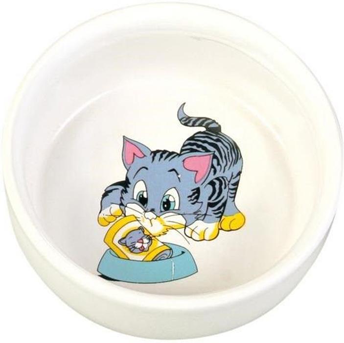 Миска для кошек Trixie Голубой котенок, 300 мл цена