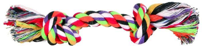 Игрушка Trixie Веревка разноцветная с узлом, длина 15 см3270Игрушка для животных, выполненная из хлопка вызовет дополнительный интерес вашего питомца.Такая игрушка порадует вашего любимца, а вам доставит массу приятных эмоций, ведь наблюдать за игрой всегда интересно и приятно.