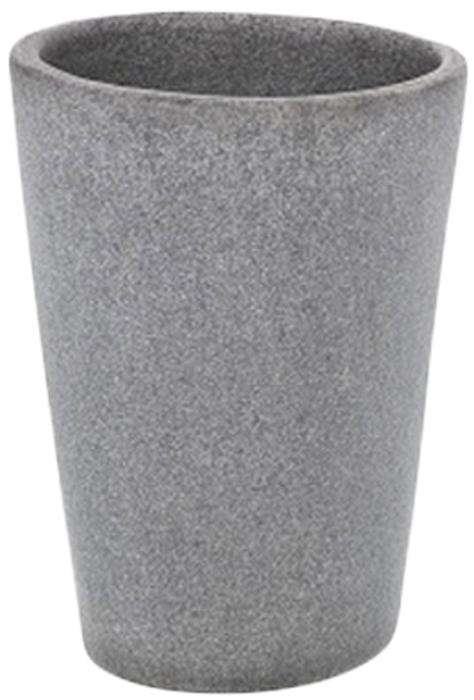 Стакан для ванной комнаты Wenko Pebble Stone, цвет: темно-серый19490100Стакан Wenko Pebble Stone отлично подойдет для вашей ванной комнаты, создаст особуюатмосферу уюта и максимального комфорта.