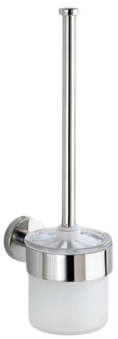 Ершик для унитаза Wenko Bosio, цвет: серый металлик. 1961410019614100Современный ершик для туалета Wenko Bosio идеально подойдет для любого санузла. Изделие имеет съемный контейнер из стекла с держателем из нержавеющей стали.