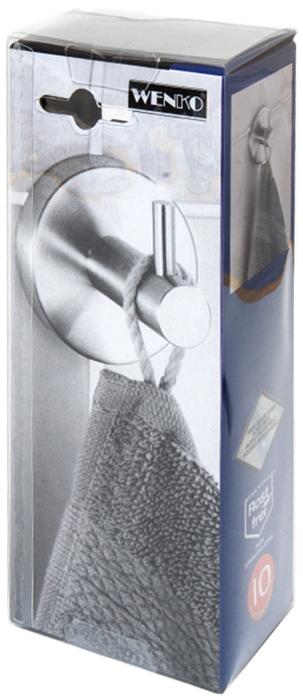 Крючок Wenko Bosio, цвет: серый металлик19621100Крючок Wenko Bosio изготовлен из нержавеющей стали. Такой крючок прекрасно впишется в интерьер ванной комнаты и поможет эффективно организовать пространство.