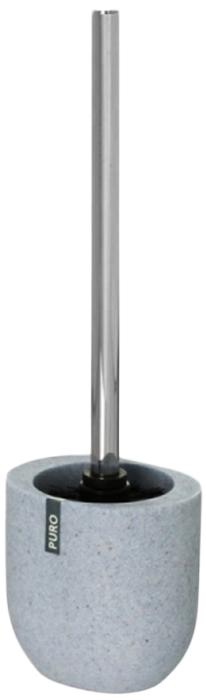 Ершик для унитаза Wenko Puro, с подставкой, цвет: светло-серый22025100Современный ершик для туалета Wenko Puro идеально подойдет для любого санузла. Держатель изготовлен из высококачественного полистоуна, а модный цвет добавит изысканности и оригинальности помещению.