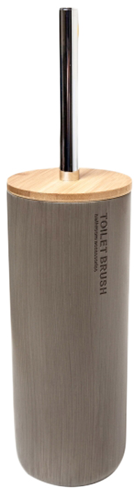 Ершик для унитаза Wenko Palo, с подставкой, цвет: коричневый6301Современный ершик для туалета Wenko Palo идеально подойдет для любого санузла. Держатель изготовлен из высококачественного полирезина в сочетании с бамбуком, а модный природный цвет дерева добавит изысканности и оригинальности помещению.