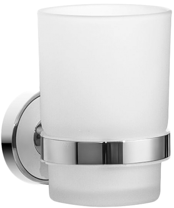 Стакан для ванной комнаты Wenko Cuba, цвет: серый металлик22167100