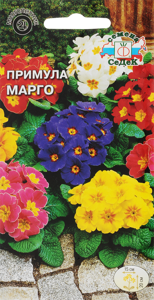 Семена Седек Примула. Марго многоцветковая4607116265970Примула - одна из самых ярких и неприхотливых многолетников. С началом ее цветения весенний сад приобретает нарядное убранство. Растение имеет прикорневую розетку листьев и зонтиковидное соцветие диаметром 15 см, состоящее из 7-10 цветков. Молодые растения быстро разрастаются, образуя пышные кустики. Предпочитает полутенистые места и рыхлые, достаточно увлажненные почвы. Используется для групповых посадок, бордюров, каменистых горок, на выгонку и срезку.Товар сертифицирован. Уважаемые клиенты! Обращаем ваше внимание на то, что упаковка может иметь несколько видов дизайна. Поставка осуществляется в зависимости от наличия на складе.