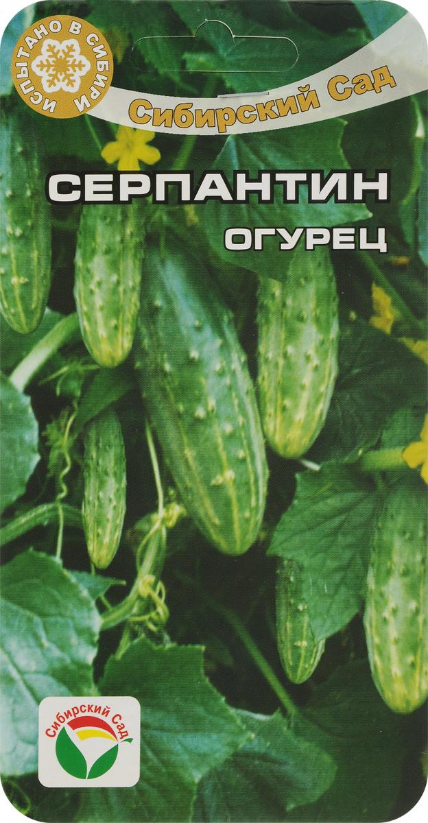 Семена Сибирский сад Огурец. Серпантин7930041232616Ранний урожайный сорт для выращивания в открытом грунте и временных пленочных укрытиях. В плодоношение вступает на 36-38 день от всходов. Растение короткоплетистое, кустового типа. Зеленцы красивые, некрупные, средней массой 75-82 г. Имеют хорошие вкусовые качества в свежем и соленом виде. Сорт устойчив к комплексу основных болезней, неприхотлив к агротехнике и экологическим условиям. Хорошо переносит засуху. Обладает высокой интенсивностью отдачи раннего урожая. Полив и подкормка органическими и минеральными удобрениями в процессе вегетации.Для ускорения процесса всхожести семян, оздоровления растений, улучшения завязываемости плодов рекомендуется пользоваться специально разработанными стимуляторами роста и развития растений. Уважаемые клиенты! Обращаем ваше внимание на то, что упаковка может иметь несколько видов дизайна. Поставка осуществляется в зависимости от наличия на складе.