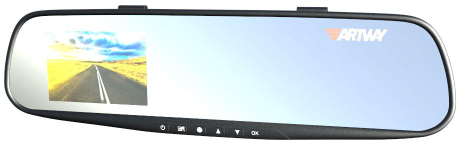 Artway AV-602, Black видеорегистратор-зеркалоArtway AV-602Видеорегистратор Artway AV-602 является одним из самых доступных в своем сегменте, но при этом имеет очень хорошее качество сборки. Качество съемки Full HD обеспечит хорошую картинку даже в темное время суток и непогоду. Благодаря системе крепления в виде специальных резиновых фиксаторов, регистратор крепится поверх штатного зеркала заднего вида, никакого демонтажа не требуется. В модели имеется встроенный G-сенсор, что надежно защитит файлы от случайного удаления.Мониторинг парковки - В случае срабатывания датчика удара во время парковки автомобиля, видеорегистратор автоматически включится и произведет видеозапись длительностью 15 секунд. Функция SOS - Защита файла от перезаписи горячей кнопкой. G-Сенсор - Датчик удара, защищает файлы от удаления и перезаписи при резком изменении положения автомобиля (столкновении и т.п.). Датчик движения - Экономит место на карте памяти, начиная запись только при наличии движущихся объектов в кадре. Циклическая запись - Позволяет в беспрерывном режиме сохранять информацию, заменяя старые файлы новыми. Включение/отключение микрофона горячей кнопкой в режиме видеозаписи. Поворотный механизм камеры до 10° - Позволяет настроить лучший ракурс съемки для каждого автомобиля. Технические характеристики:Матрица - 0,3 Mп CMOS, 1/4''Режим работыЫ - Видео/Фото/ПросмотрФормат записи - AVIВидеокодек - M-JPEGЦиклическая запись - 1 мин / 3 мин / 5 мин/выклКарта памяти - microSD до 32 Гб, 10 классИнтерфейс - mini USB 2.0Угол обзора 120°Встроенный дисплей 3,2 'Материал - пластик.Комплектация: видеорегистратор, встроенный в зеркало заднего вида, зарядное устройство, резиновые держатели, гарантийный талон, инструкция.