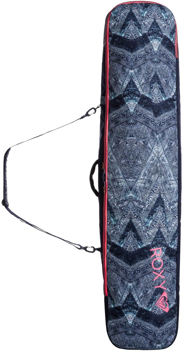 Чехол для сноуборда Roxy BOARD SLEE J BAGS BTN6, 160 смERJBA03024-BTN6Материал: прочный синтетический оксфорд из полиэстера 600DОтделения: задний карман, куда можно убирать съемную заплечную лямкуСтрепы/лямки: удобная короткая ручка + набивной дизайн ручек + съемная заплечная лямка с брелоками + заплечные лямки для удобного превращения в рюкзакПрочие характеристики: прочная и износостойкая водонепроницаемая подкладка + молния во всю длинуРазмеры: 160 x 34 x 8 смОбъем: 102 л+