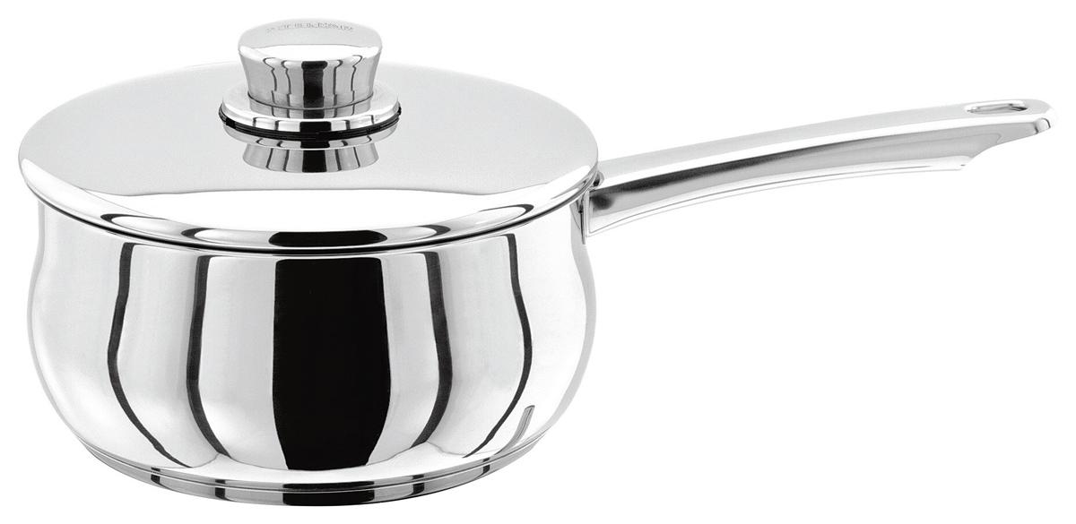 Ковш Stellar 1000, с крышкой, 1,3 лS105Классическая английская форма посуды в сочетании с непревзойденным европейским качеством. Дно посуды изготовлено методом горячей ковки, что гарантирует равномерное распределение тепла на всех типах варочных панелей. Произведено в Португалии. Хромированная нержавеющая сталь. Широкий ассортимент, включая глубокие и антипригарные сковородки. Можно мыть в посудомоечной машине. Пригодны для использования в духовке (до 240 гр. С). Подарочная упаковка, брошюра с рекомендациями по уходу за посудой.