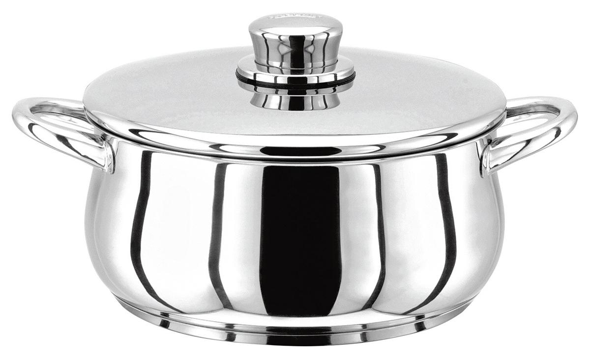 """Кастрюля Stellar """"1000"""" из хромированной нержавеющей стали. Классическая английская форма посуды в сочетании с непревзойденным европейским качеством. Дно посуды изготовлено методом горячей ковки, что гарантирует равномерное распределение тепла на всех типах варочных панелей. Можно мыть в посудомоечной машине. Кастрюля пригодна для использования в духовке (до 240°С). К кастрюле прилагается брошюра с рекомендациями по уходу за посудой."""