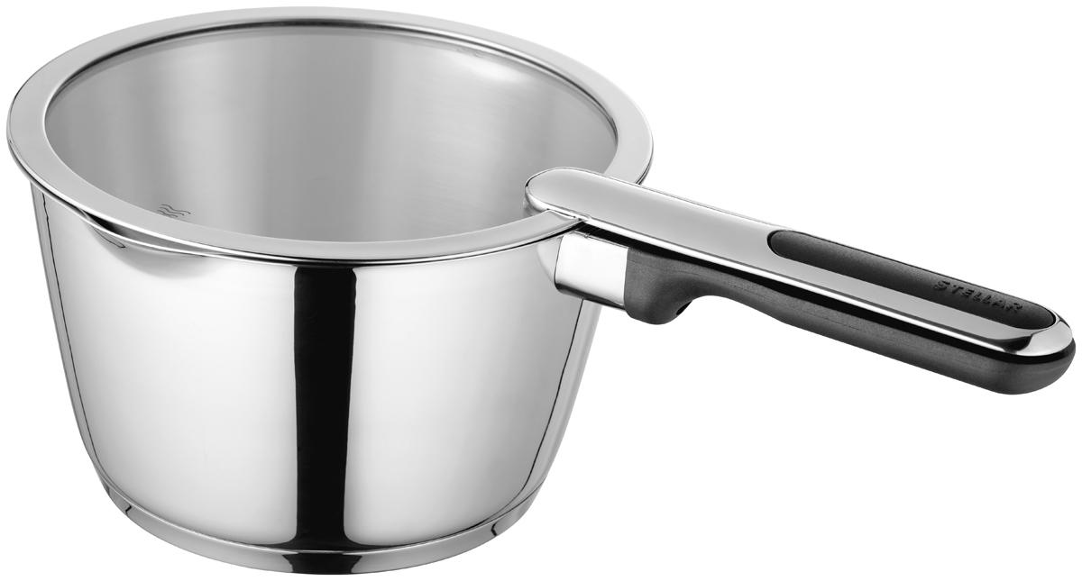 """Ковш Stellar """"Tate"""" выполнен из нержавеющей стали. Дно изделия изготовлено  методом горячей ковки, что гарантирует равномерное распределение тепла на  всех типах варочных панелей.  Можно мыть в посудомоечной машине. Пригоден для использования в  духовке (до 180°С)."""