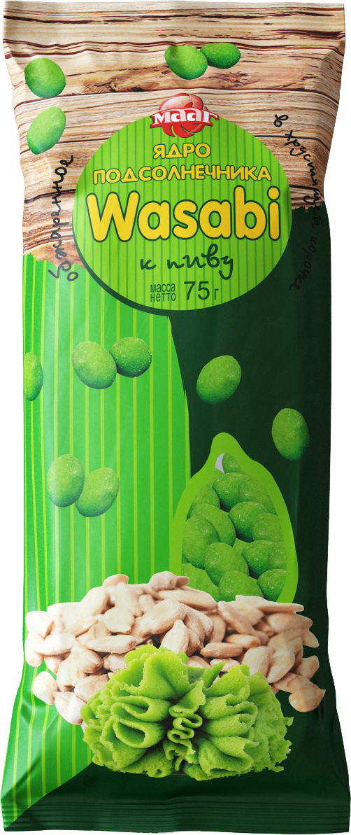 МААГ ядро подсолнечника со вкусом wasabi, 75 г