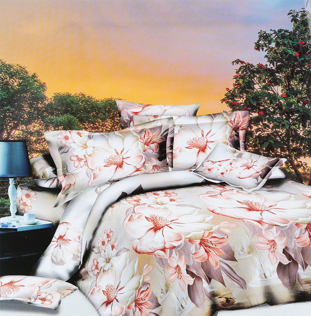 Комплект белья МарТекс Каус, 2-спальный, наволочки 70х70 комплект белья в киеве круглосуточно