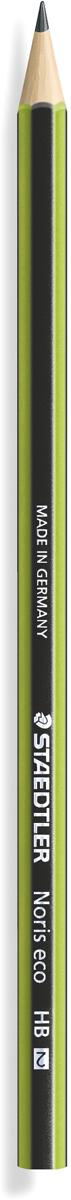 Staedtler Карандаш чернографитный Noris твердость HB18030-HBЧернографитовый карандаш Noris eco в классическом черно-зеленом корпусе . Изготовлен из уникального природного материала Wopex (70% древесины+ 30% пластиковый композит). Однородный материал WOPEX обеспечивает исключительно гладкую и ровную заточку. При производстве используется PEFC-сертифицированная древесина из постоянно возобновляемых лесов. Степень твердости - HB (твердо-мягкий). Диаметр грифеля - 2 мм. Нескользящая, ударопрочная, бархатистая поверхность; эргономичная шестигранная форма корпуса; гладкое письмо; длина письма в два раза больше, чем у обычного карандаша в деревянном корпусе.