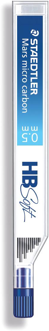Staedtler Грифель для карандаша Mars 250 05 12 шт25005-BBНовая степень твердости грифелей 250 05 серии - HB Soft. В картонной упаковке с подвесом, 12 штук. Грифели для механических карандашей Staedtler Mars micro Carbon предназначены для работы на картоне и бумаге. Устойчивы к поломке. Подходят для работы с любыми механическими карандашами. Дают насыщенный цвет. Упаковка обеспечивает быструю подачу грифелей, позволяет заправить карандаш сразу двенадцатью стержнями (специальная система 12-a-go).