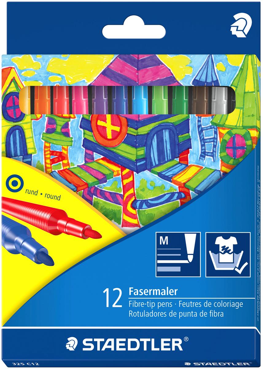 Staedtler Набор фломастеров Noris Club 12 цветов325C12Набор фломастеров Noris Club 325 серии. Вентилируемый колпачок. Отстирываются с большинства поверхностей. Толщина линии примерно 1,0 мм. 12 ярких цветов.