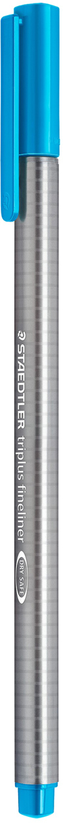 Staedtler Ручка каппилярная Triplus голубая334-37Капиллярная ручка triplus 334 серии. Цвет голубой. Эргономичная трехгранная форма для удобного и легкого письма. Пишущий узел завальцован в металл. Защита от высыхания - может быть оставлен без колпачка на несколько дней (тест ISO). Чернила на водной основе. Отстирывается с большинства тканей. Корпус из полипропилена гарантирует долгий срок службы. Толщина линии примерно 0,3 мм.