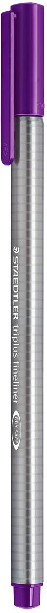 Staedtler Ручка каппилярная Triplus цвет чернил фиолетовый334-6Капиллярная ручка выполнена из полипропилена. Эргономичная трехграннаяформа для удобного и легкого письма. Пишущий узел завальцован в металл.Защита от высыхания - может быть оставлен без колпачка на несколько дней (тестISO). Чернила на водной основе. Отстирывается с большинства тканей.