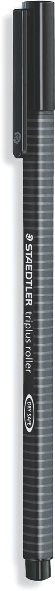 Staedtler Ручка-роллер Triplus цвет чернил черный403-9Трехгранная ручка-роллер эргономичной формы для удобного и легкого письма.Устойчивый к нажиму металлический пишущий узел. Превосходно гладкое письмо.Подходит для копий. Чернила на водной основе. Отстирываются с большинстватканей. Корпус из полипропилена гарантирует долгий срок службы. Безопасно длясамолетов - автоматическое выравнивание давления предотвращает отвытекания чернил на борту самолета.