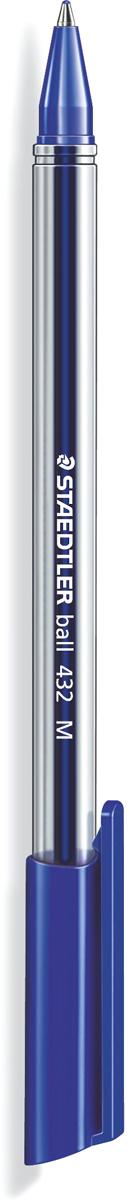 Staedtler Ручка шарикова Ball синяя432M-3Трехгранная шариковая ручка серии ball 432. Цвет синий. Эргономичная трехгранная форма для удобного и легкого письма. Очень гладкое письмо. Прозрачный корпус. Колпачок, пишущий узел и торцевая часть соответствует цвету чернил. Несмываемые чернила. Безопасно использовать в самолете - автоматическое выравнивание давления предотвращает вытекание чернил на борту самолета. Толщина линии M - 0,5 мм.