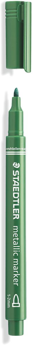 Staedtler Маркер Металлик цвет зеленый8323-553Маркер металлик для письма и украшения как на светлой так на темной бумаге и картоне. Цвет чернил - зеленый. Идеален для скрап-букинга и украшения поздравительных открыток. Легко стирается с гладких поверхностей, таких как стекло и зеркало влажной тряпкой. Ширина линии - 1-2 мм.