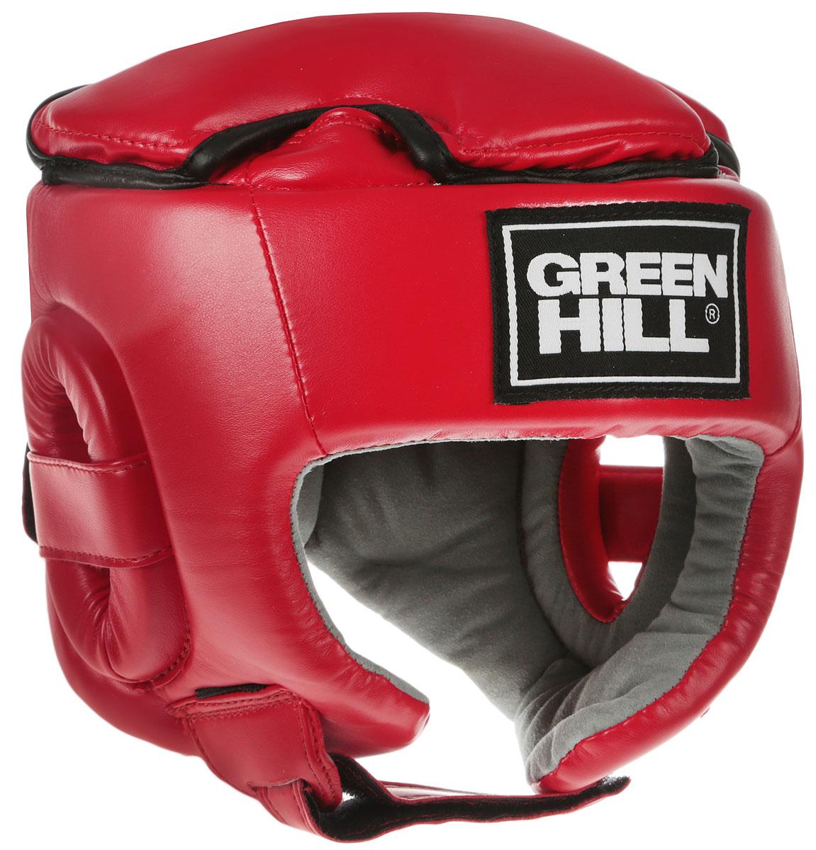 Шлем боксерский Green Hill Glory, цвет: красный. HGG-9046. Размер SHGG-9046Соревновательный шлем Green Hill Glory является конструктивной новинкой на рынке единоборств. Особенность конструкции в том, что крышка шлема сочетает в себе и шнуровку и крестообразный пенный модуль как в шлемах Best и Pro, обеспечивая тем самым защиту головы от ударов сверху с максимально гибкую фиксацию за счет шнуровки.Шлем будет интересен в первую очередь кикбоксерам.Внешняя сторона шлема выполнена из пенополиуретан FX, внутренняя сторона из искусственной замши Amara.