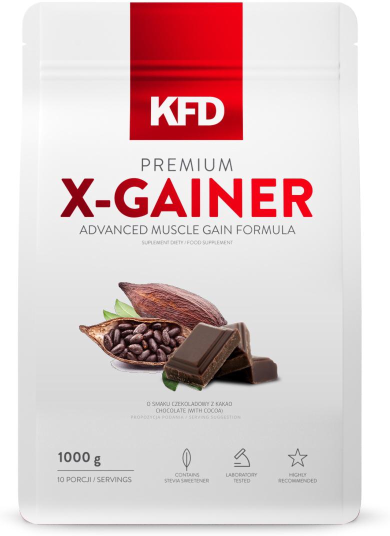 Гейнер KFD Premium X-Gainer, ванильное мороженое, 1 кг5901947660775Premium X-Gainer KFD Nutrition 1000 гр – это высококачественная белково-углеводная смесь, в состав которой входят концентрат сывороточного протеина (WPC) и мицеллярный казеин. Продукт дополнительно усилен бета-аланином и L-глютамином, которые способствуют улучшению восстановления после тренировок.Как повысить эффективность тренировок с помощью спортивного питания? Статья OZON Гид