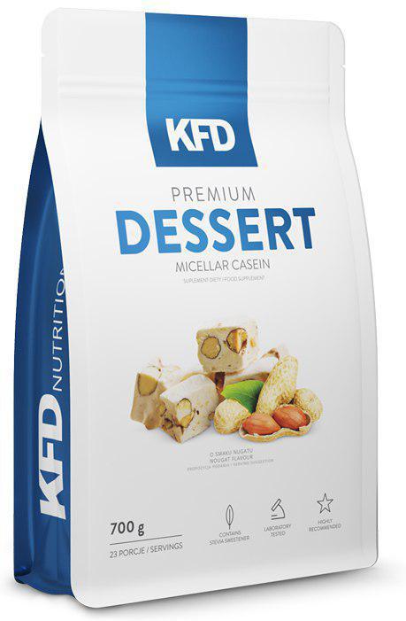 Казеин KFD Dessert, печенье, 700 г5901947663189Premium Dessert Micellar Casein KFD Nutrition - это высококачественный, 100% чистый мицеллярный казеин. Отличный вкус этого продукта, сливочная консистенция и небольшое количество жира и сахара идеально подходит для создания очень сытного десерта или пищи с высоким содержанием белка. Как и во всех продуктах KFD в нём нет красителей, консервантов или низкокачественных примесей растительных белков.Как повысить эффективность тренировок с помощью спортивного питания? Статья OZON Гид