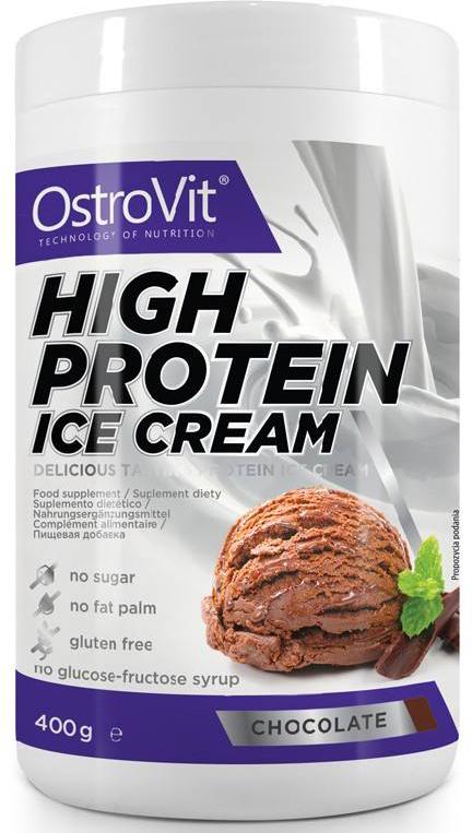 "Заменитель питания OstroVit ""High Protein Ice Cream"", шоколад, 400 г"