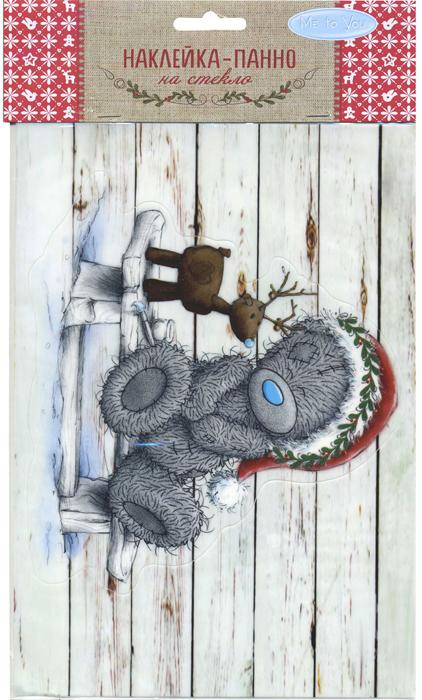 Наклейка декоративная на стекло Winter Wings Me to you. Мишка Тедди и олень, 16 х 23 см наклейки интерьерные winter wings наклейка панно гелевая me to you