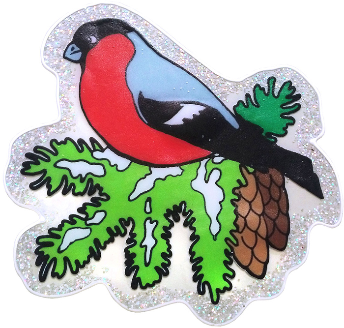 Наклейка декоративная Winter Wings Снегирь, 20 х 20 см. N09399N09399Наклейка декортативная СНЕГИРЬ, 20*20 см, ПВХ