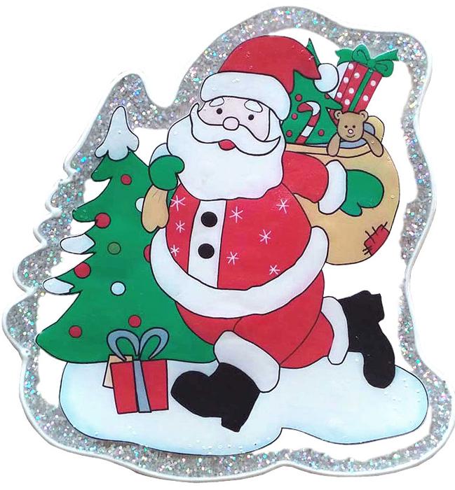 Наклейка декоративная Winter Wings Дед Мороз, 20 х 20 смN09402Декоративная наклейка Winter Wings - креативный и недорогой способ украсить интерьер дома к Новому году. Декор наполнит комнату радостным и веселым настроением и создаст волшебную атмосферу праздника.