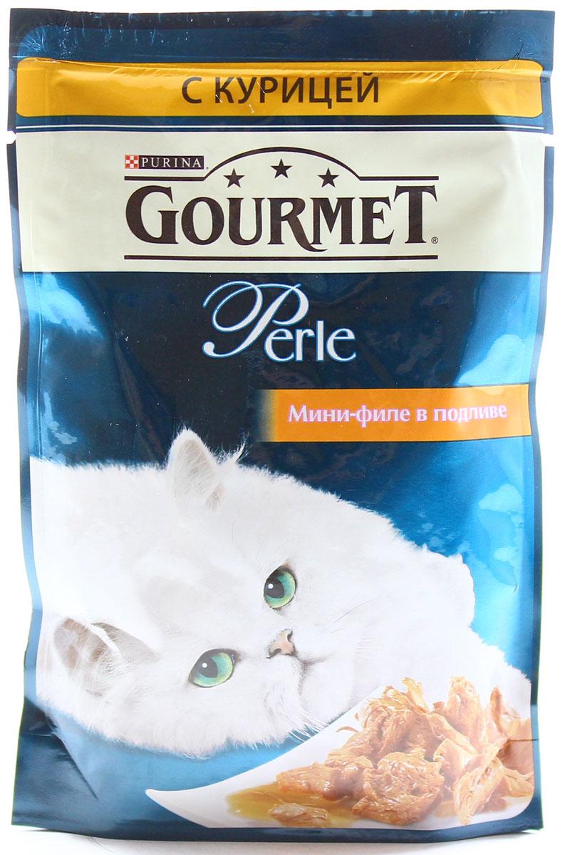 Консервы для кошек Gourmet Perle, мини-филе с курицей, 85 г12222445Ваша кошка - настоящий гурман, и порой ей сложно угодить. Корм Gourmet Perle - это изысканное угощение с превосходным вкусом, которым ваша кошка будет наслаждаться каждый день. Ваш гурман оценит нежнейшие кусочки с мясом или рыбой, приготовленные в аппетитном соусе.Корм Gourmet Perle - изысканное угощение на каждый день.Рекомендации по кормлению: Суточная норма: 3-4 пакетика в день для взрослой кошки (средний вес 4 кг), в два приема.Данная суточная норма рассчитана для умеренно активных взрослых кошек, живущих в условиях нормальной температуры окружающей среды. В зависимости от индивидуальных потребностей кошки норма кормления может быть скорректирована для поддержания нормального веса вашей кошки.Подавайте корм комнатной температуры. Следите, чтобы у вашей кошки всегда была чистая, свежая питьевая вода.Условия хранения: Закрытый пакетик хранить в сухом прохладном месте. После открытия продукт хранить в холодильнике максимум 24 часа. Состав: мясо и продукты переработки мяса (в том числе курицы 4%), экстракт растительного белка, рыба и продукты переработки рыбы, минеральные вещества, сахара, красители, витамины.Добавленные вещества: МЕ/кг: витамин A: 800; витамин D3: 120; витамин Е: 18; мг/кг: железо: 9; йод: 0,2; медь: 0,8; марганец: 1,8; цинк: 15.Гарантируемые показатели: влажность 79,0%, белок 14,0%, жир 2,5%, сырая зола 2,2%, сырая клетчатка 0,5%.Вес: 85 г.Товар сертифицирован.Уважаемые клиенты! Обращаем ваше внимание на то, что упаковка может иметь несколько видов дизайна. Поставка осуществляется в зависимости от наличия на складе.