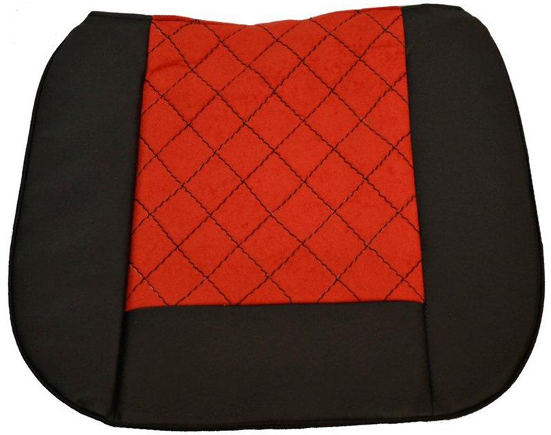 """Накида автомобильная """"Auto Premium"""", на горизонтальную часть сиденья, цвет: красный, черный, 50 х 51 см. 47011"""