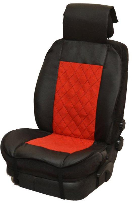 Накидка автомобильная Auto Premium, на полное сидение, цвет: красный, черный, 150 х 53 см. 4750147501Универсальная накидка на передние сиденья. Стильное и практичное решение для салона автомобиля. Благодаря специальным ремням накидка идеально устанавливается на любом типе сидений. Материал - высококачественный велюр класса люкс. По краям вставки из износостойкой экокожи , благодаря чему внешние края изделия прослужат дольше.
