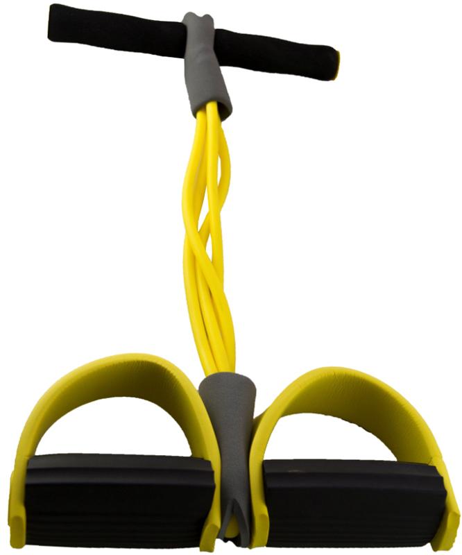 Эспандер для спины Atemi, цвет: желтыйACE-04Эспандер предназначен для развития мышц спины, пресса, рук и плеч. Неопреновые рукоятки делают занятия более комфортными. Материал: ПВХ, неопрен, латекс