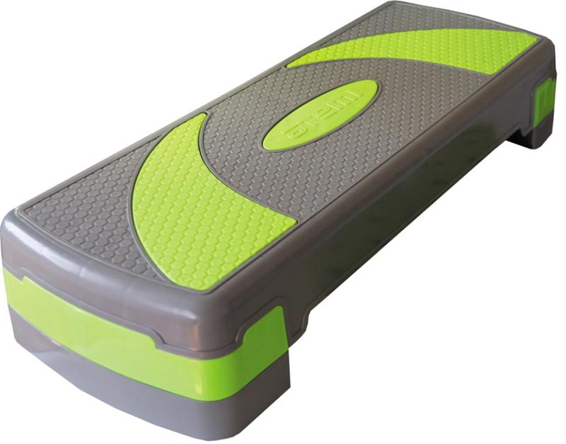 Степ платформа Atemi, 3 уровня, цвет: зеленый0023Платформа с антишоковой нескользящей поверхностью. Обеспечивает устойчивое положение на любой поверхности. Размер платформы: 78 х 29 см. Регулируемая высота: от 10 до 15 см и до 20 см.