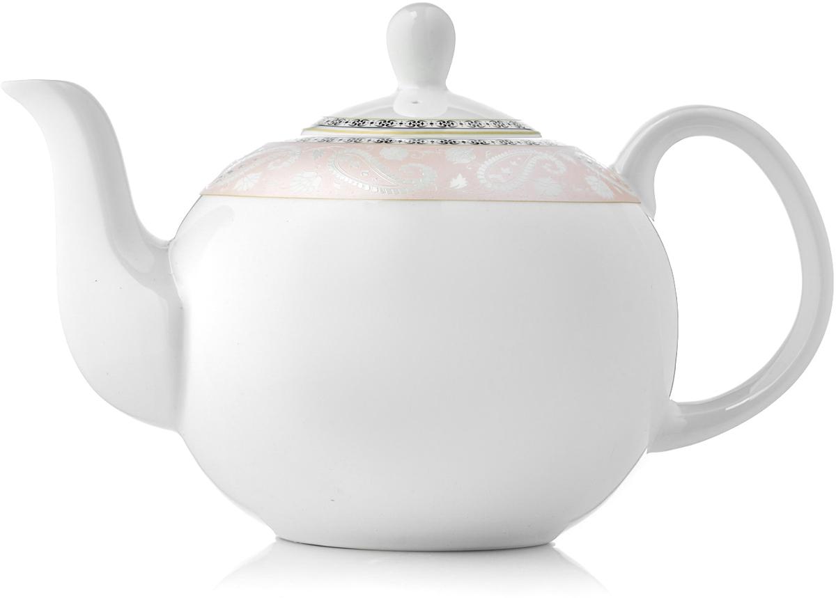 Чайник заварочный Esprado Arista Rose, 1,22 лARRL13RE306Заварочный чайник Arista Rose изготовлен из костяного фарфора и декорирован аристократическими символами - вензелями, которые передают настроение торжества и изящества. Особенный шарм коллекции придает круговая розовая деколь, переносящая нас в эпоху классицизма.Изделия коллекции из костяного фарфора Arista Rose обладают высокой прозрачностью, повышенной прочностью и устойчивостью к истиранию: царапины от ножа и сеточки трещин не появятся на ней даже через несколько лет.Чайник новой круглой формы очень практичен: его легко очищать, чаинки не забиваются в отверстия. Кроме того, благодаря округлому силуэту чайник стал более изящным и подойдет как для чаепития в кругу семьи, так и для торжественного случая.Изделия из коллекции Arista Rose можно использовать в микроволновой печи, мыть в посудомоечной машине.